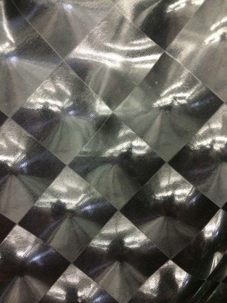 Black 3D Hologram Square Lycra Spandex Super Stretch Fabric Sold By ...