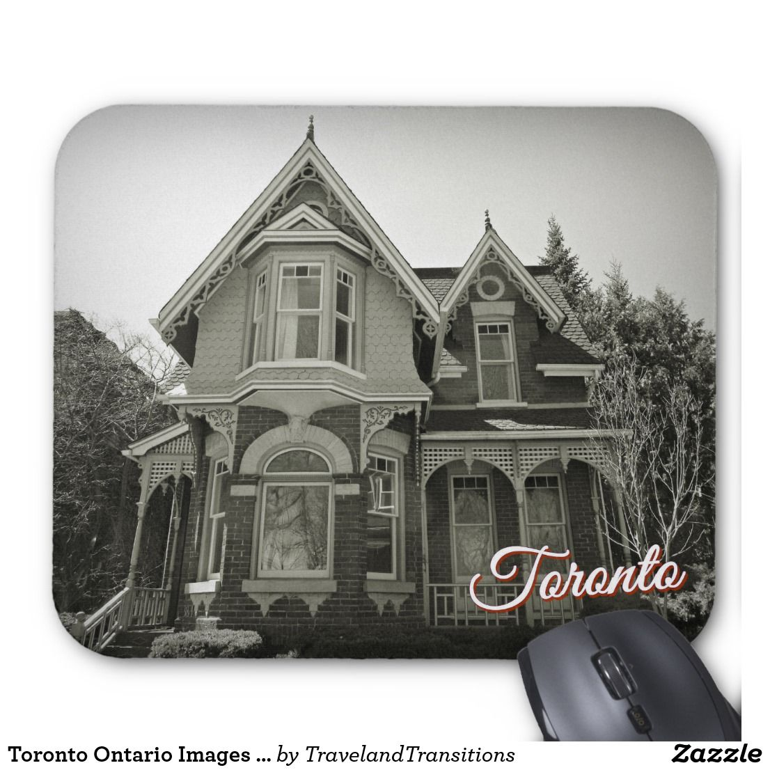 Toronto Ontario Images – Victorian Architecture Mouse Pad | Zazzle.com