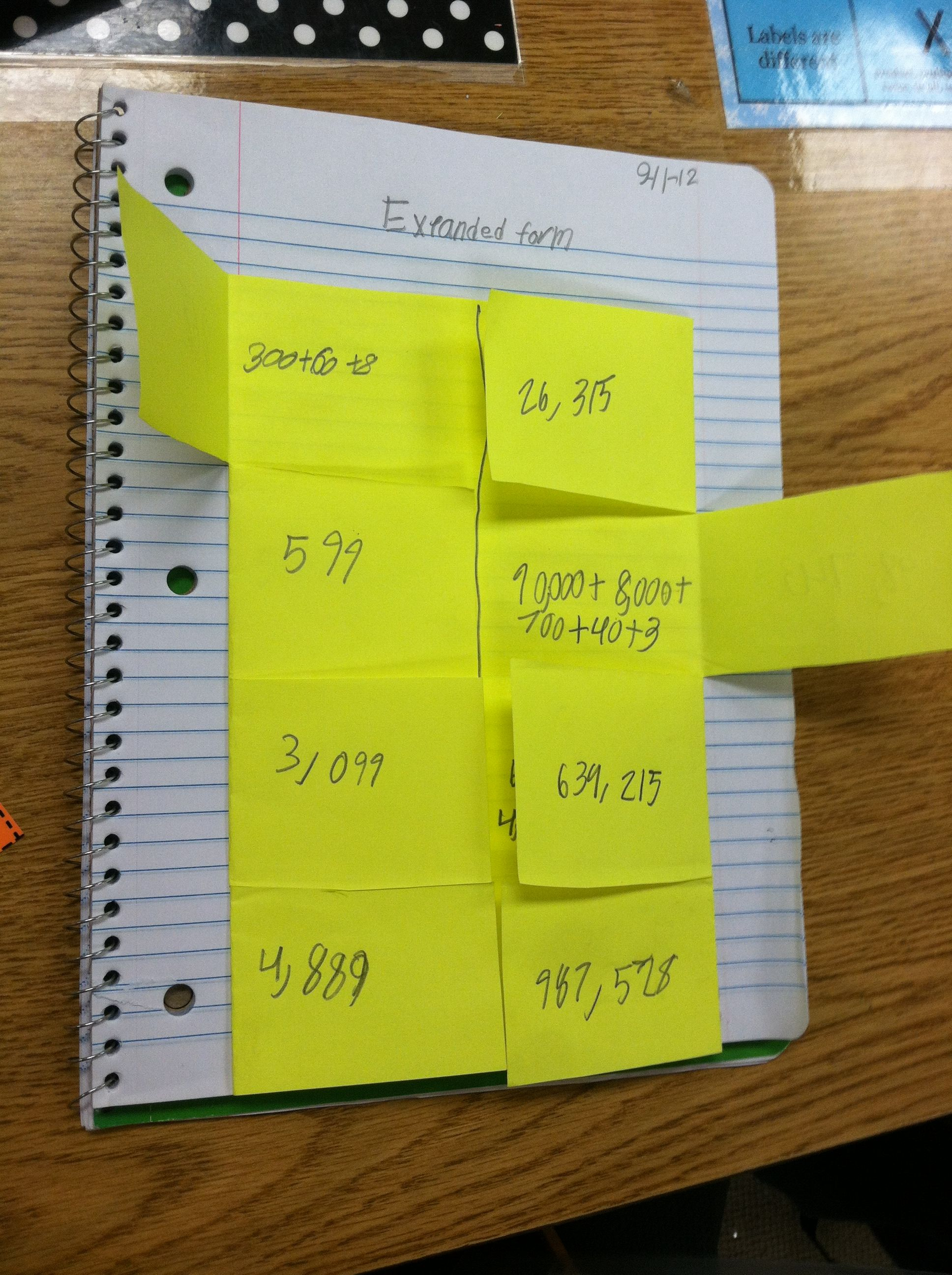 Math Foldable For Place Value The Standard Form Goes On