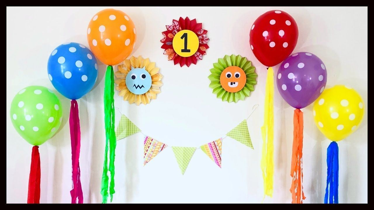 very easy birthday party decoration at home / first ...