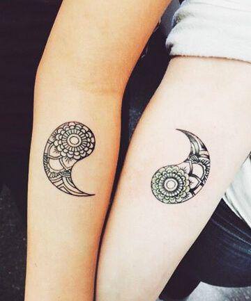 Yin yang couple 360 433 tattoo pair for Yin yang couples tattoos