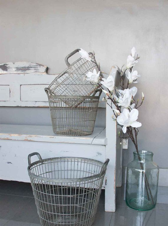 VINTAGE FRENCH POTATO BASKET This Great Vintage French Potato Basket Is  Perfect For Storing Treasured House