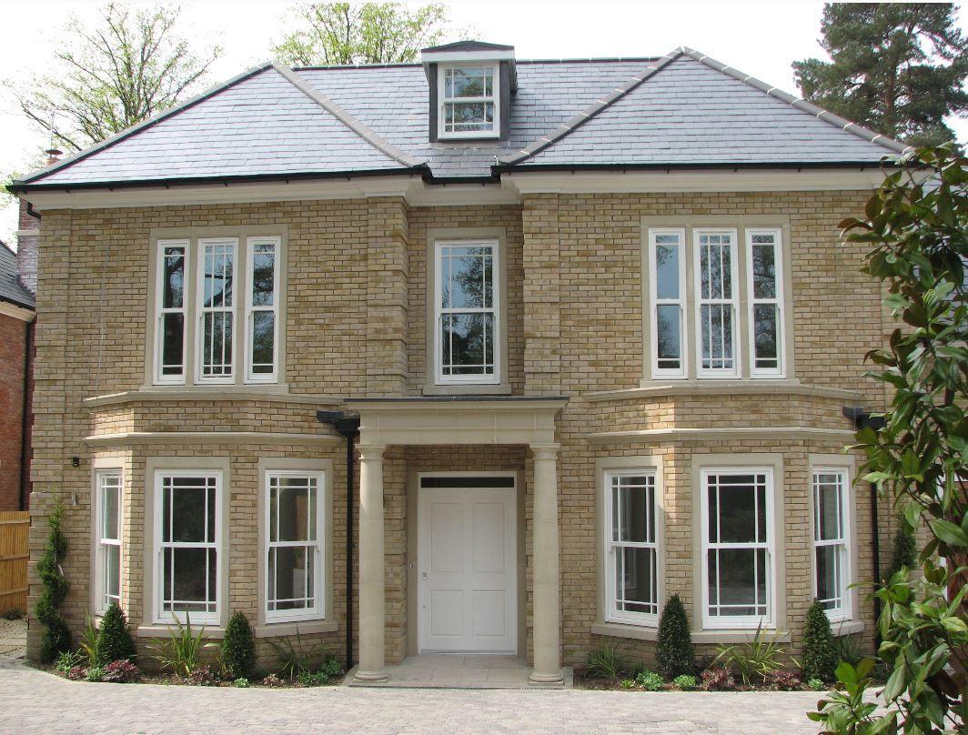 Amber Pre Cast Georgian Style Portico Modern House Exterior