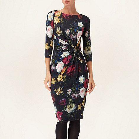 Phase Eight Black Jemina Floral Print Dress At Debenhams
