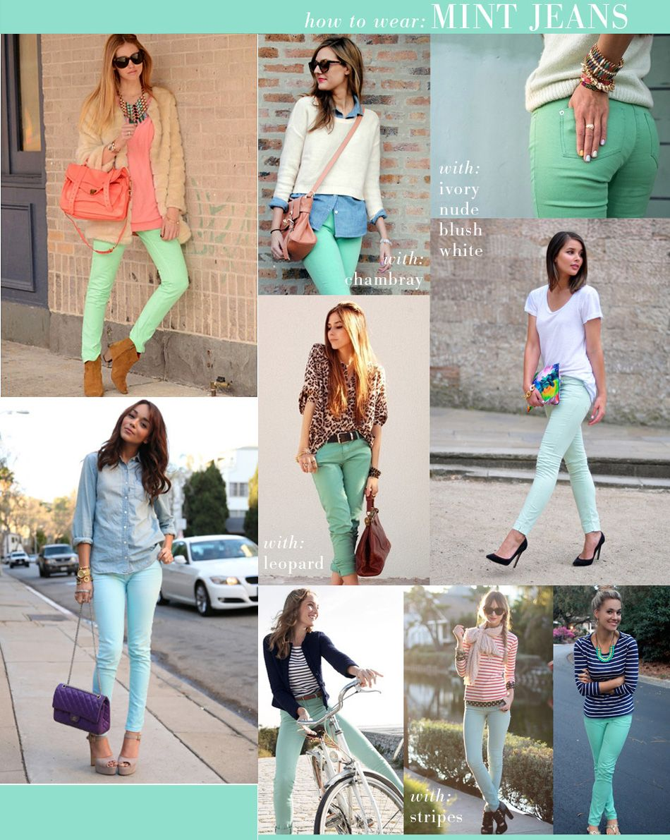 Mint Green Skinny's maybe someday I'll be brave enough for