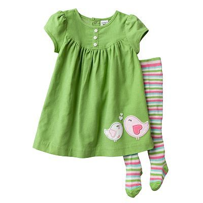 Carter's Corduroy Dress and Tights Set - Baby
