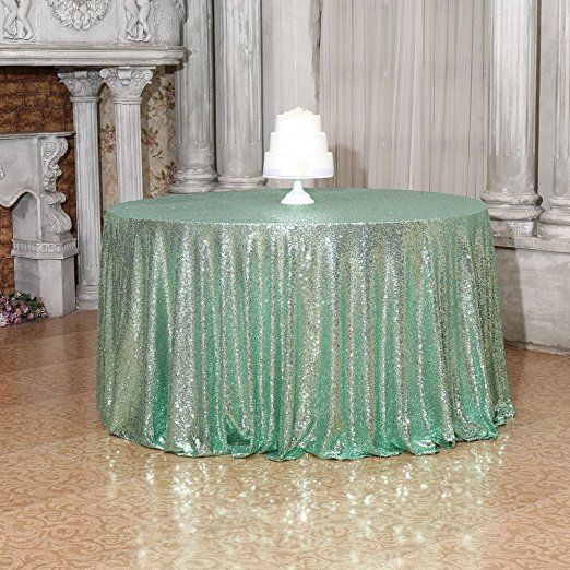 Amazon PartyDelight Sequin Tablecloth Sparkly Tree Skirt Round 70