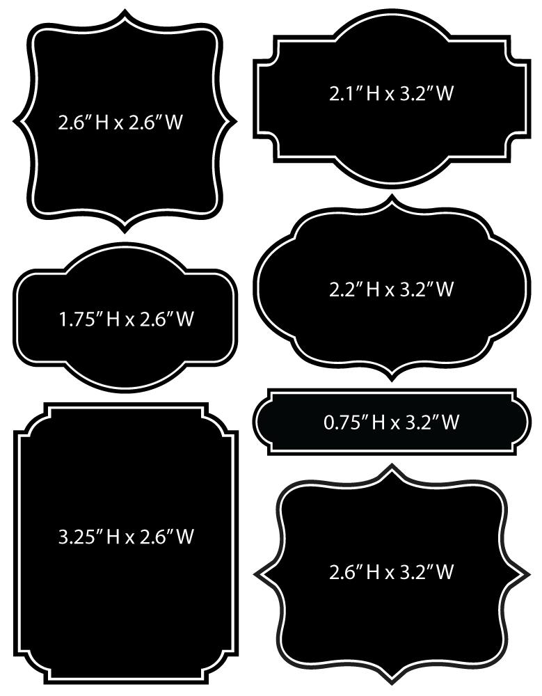 Chalkboard Labels Vintage Shapes Chalkboard Labels Jar Labels Mason Jars Labels