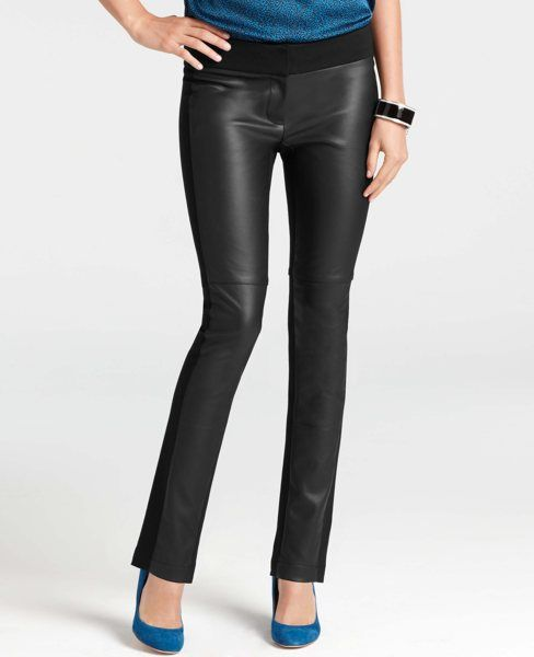 f195063ae62 Faux Leather Front Ankle Pants