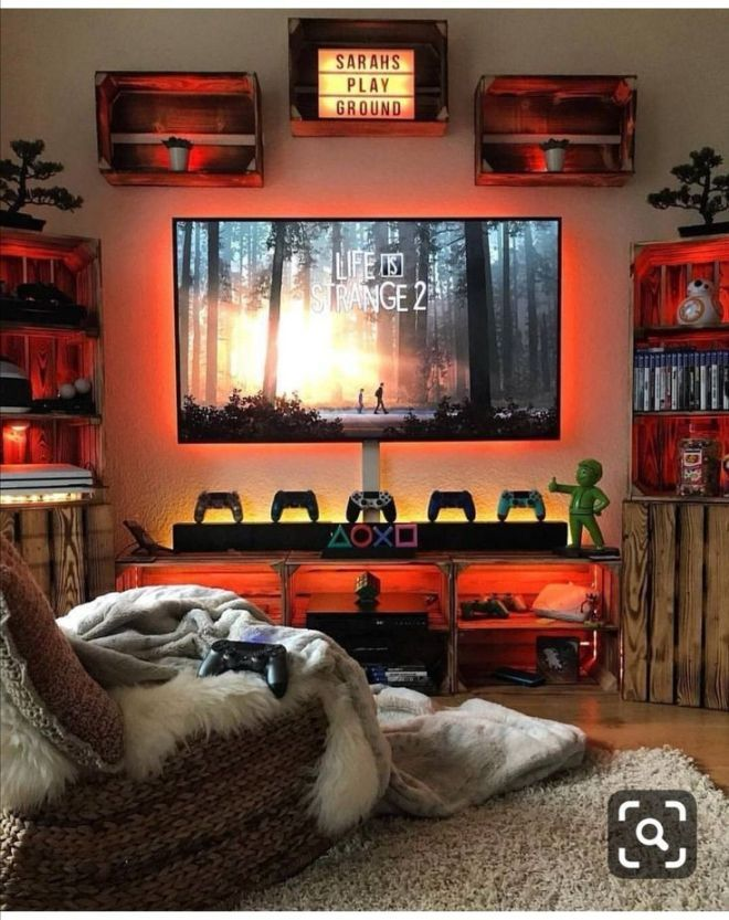 Ps4 Ps5 Gaming Mancave Sunday Video Game Room Design Video Game Room Decor Game Room Design Ps4 gaming bedroom ideas