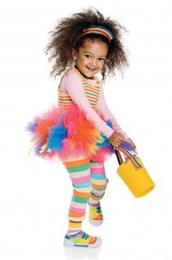 If she brightens up even the rainiest of days, let her be a rainbow this Halloween. Click through for a how-to!