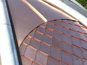 How To Clad A Dome Turret Or Radius Detail With Metal Fibreglass Roof Copper Roof Copper Metal Roof