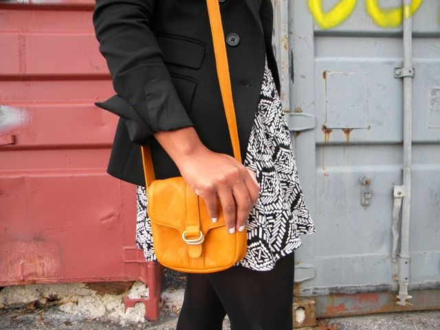 Black & white with a pop of color.
