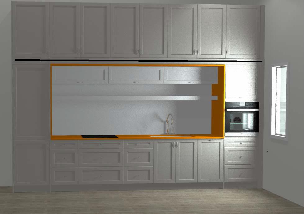 Final kitchen design for Radiance by Hinge Design in ...