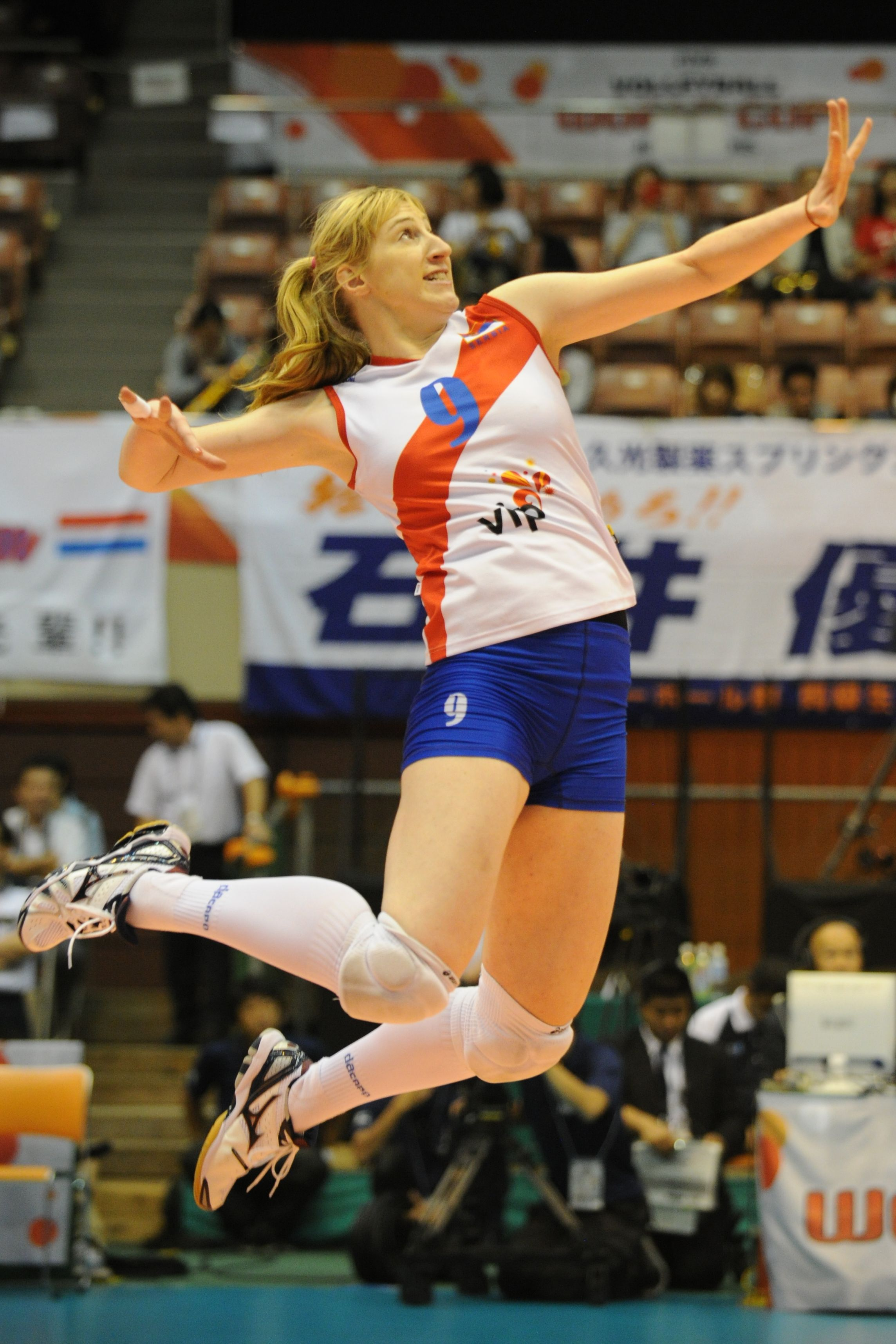 Brankica Mihajlovic Serbian Wing Spiker Fivb Female Volleyball Players Women Volleyball Volleyball Players