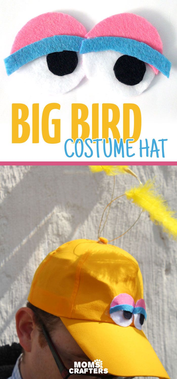 Make A Diy Big Bird Hat Moms And Crafters On The Blog Big Bird