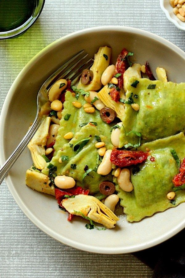 Mediterranean Ravioli with Artichokes & Olives images