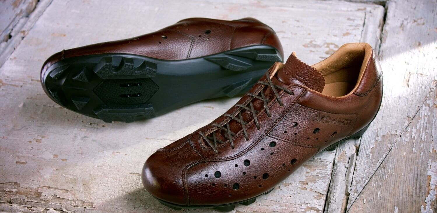handmade natural leather black vintage style Classic Road Cycling Shoes