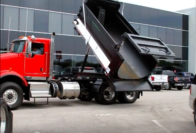 Roto Dump Rotating Body With Images Dump Trucks Kenworth Trucks