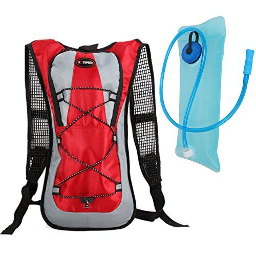 669567574f Hydration Pack with 2L Backpack Water Bladder for Hiking Running Biking Red  * Check out the image by visiting the link.