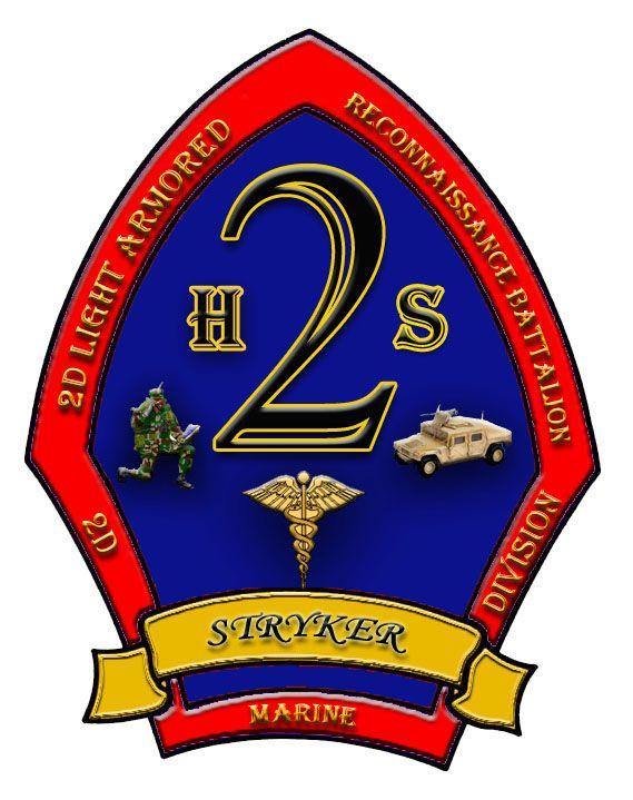 STICKER USMC UNIT 2ND LIGHT ARMOR RECON BN