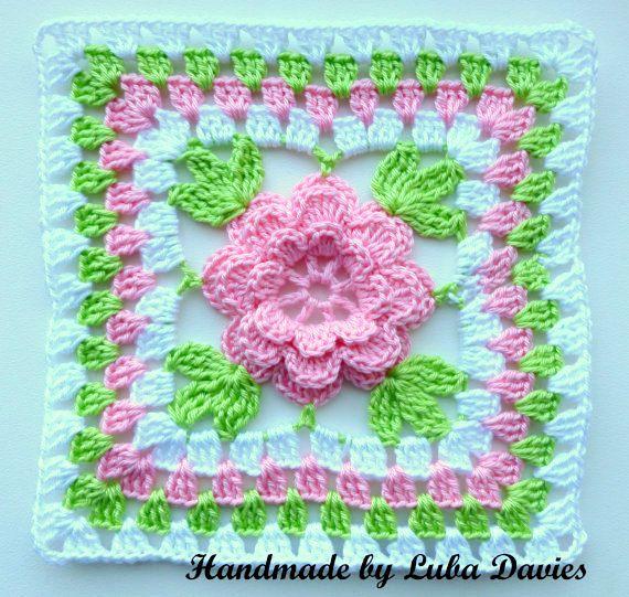 Patrón de instantánea descargar Crochet PDF - flor en la Plaza de la ...