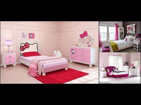 شاهدي أجمل صور غرف نوم بنات 2019 في ديكورات جذابة للبنات Youtube Modern Kids Bedroom Hello Kitty Rooms Small Kids Room
