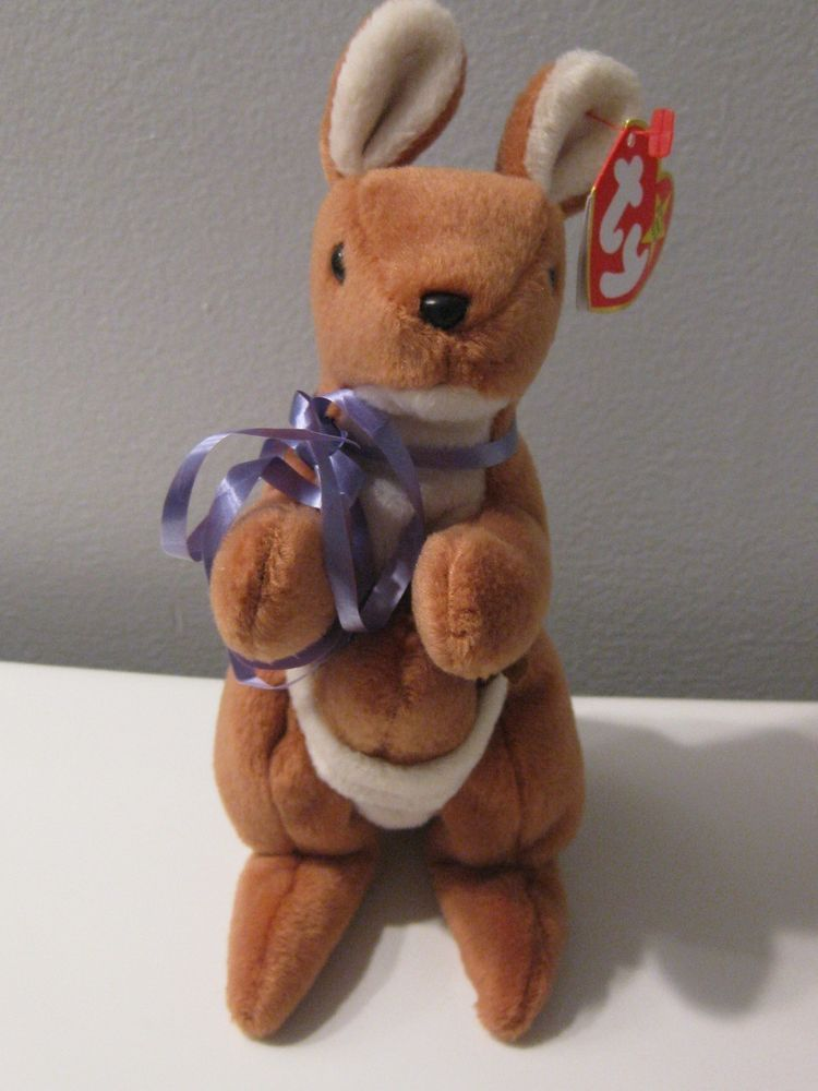 0fcee9ebae1  Pouch  Style 4161 RETIRED TY Original Beanie Baby (1996) Original Rare  Ty  CUTE EVEN HAS A RIBBON FOR YOU.