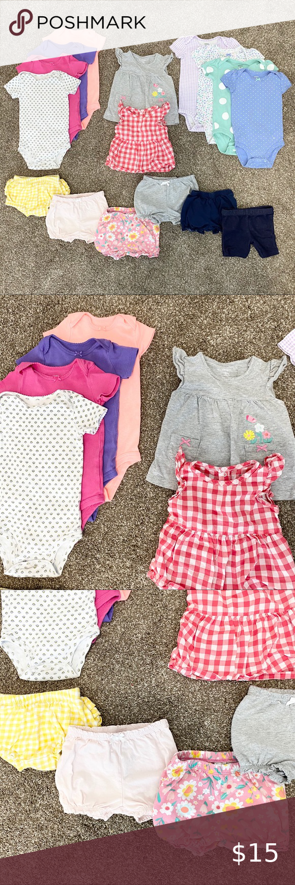 Baby Girl Bundle 9 Months 16-piece bundle of baby girl summer clothes in