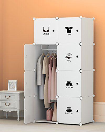 Portable Clothes Closet Wardrobe By Kousi Freestanding St