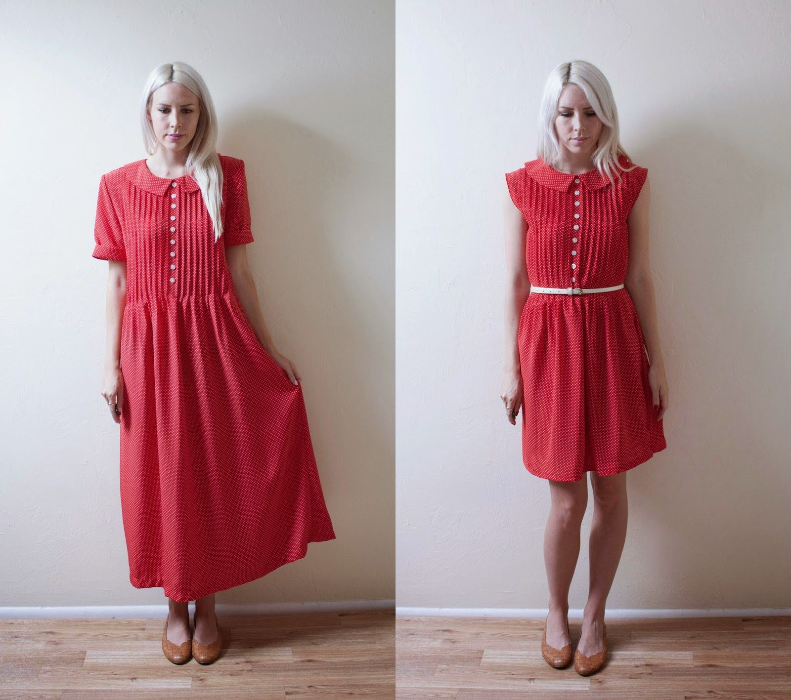 Polka Dot Dress Makeover | Sewing | Dress makeover, Sewing ...