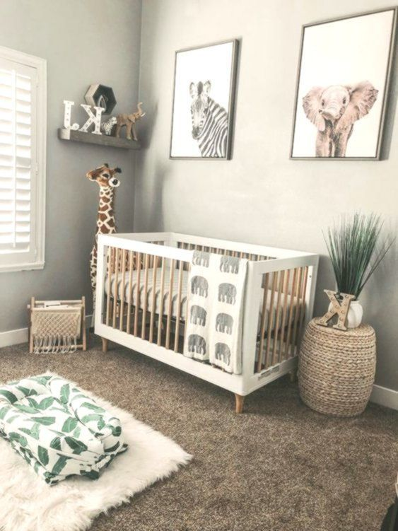 Unique Baby Boy Room Ideas: Gender Neutral Boho Safari Jungle Nursery With Giraffe