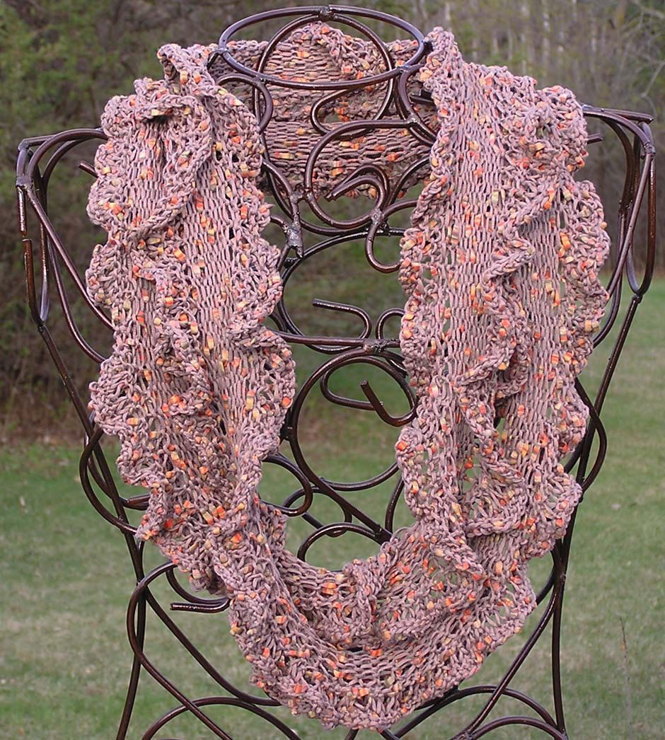 Knitted Ruffle Scarf Pattern | Ruffled Moebius OR Infinity Scarf ...