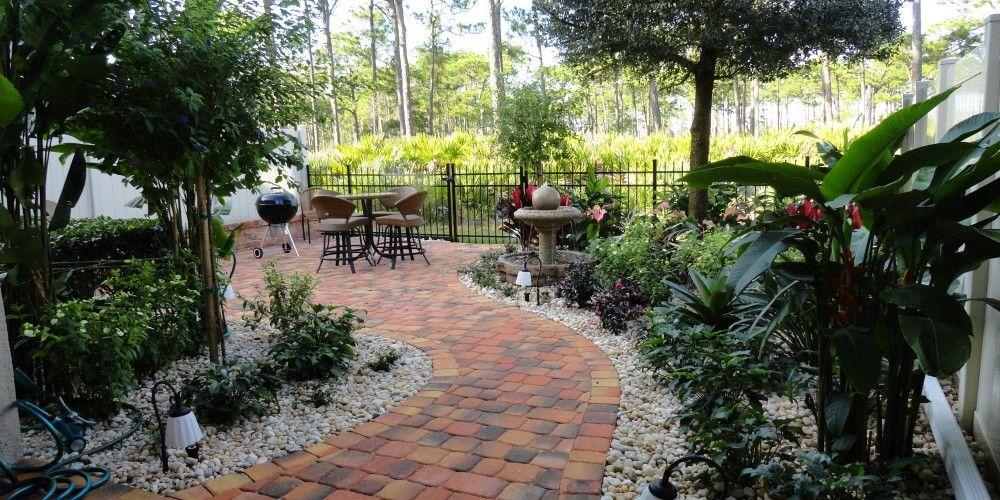 florida landscape design ideas courtyard features melbourne