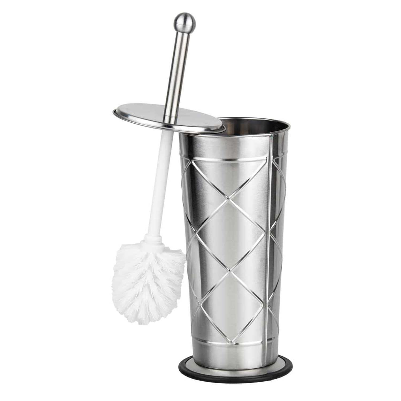 Stainless Steel Diamond Patterned Toilet Brush Holder | *Bath ...
