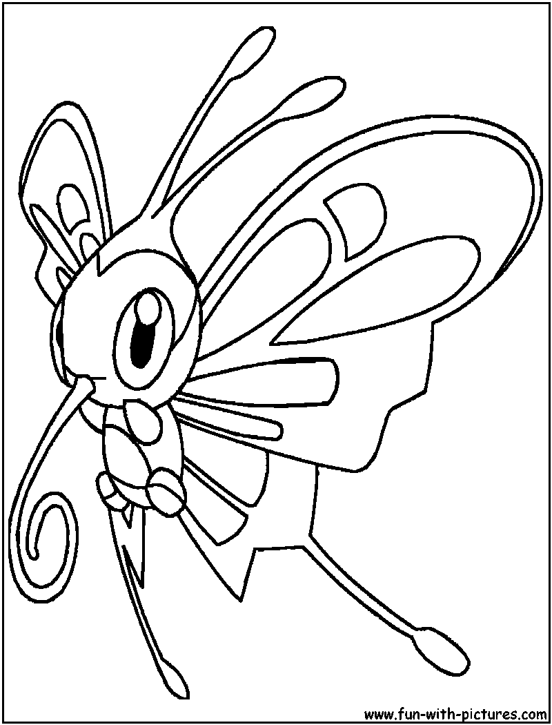 Beautifly Coloring Page Pokemon Coloring Pages Pokemon Coloring Coloring Pages