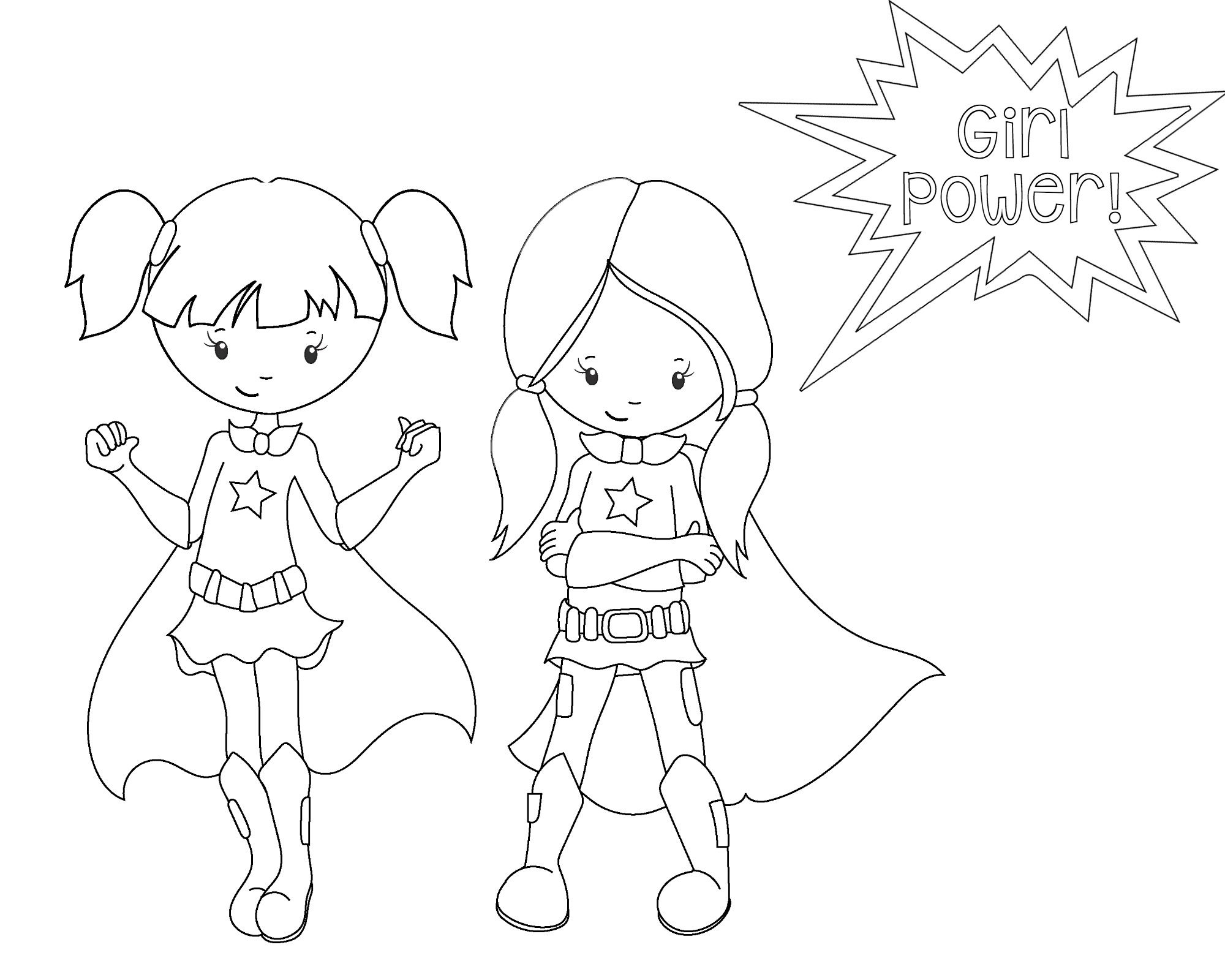 Free Printable Superhero Coloring Sheets For Kids