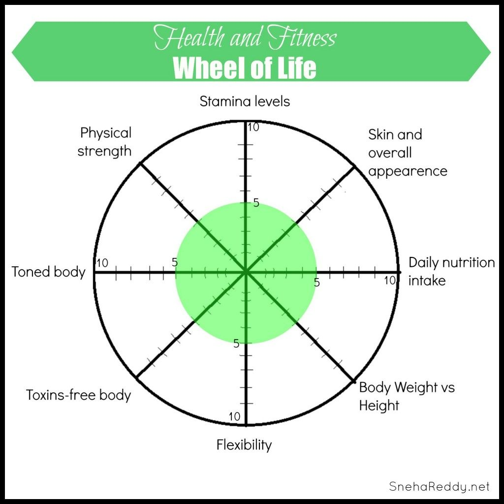 Wheel Of Life Health And Fitness With Images