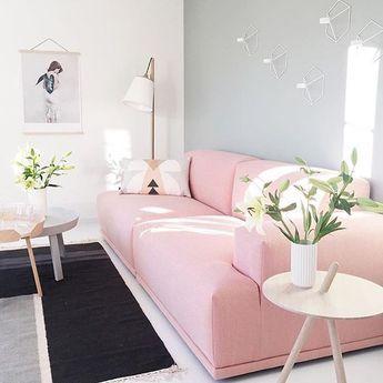 Sofa Rosa Na Sala Home Living Room Home Decor Fashion Room