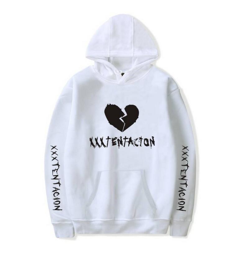 Xxxtentacion Hoodies Sweatshirts and Sweatpants Men Two Piece Set Hooded Suit Grey 4XL