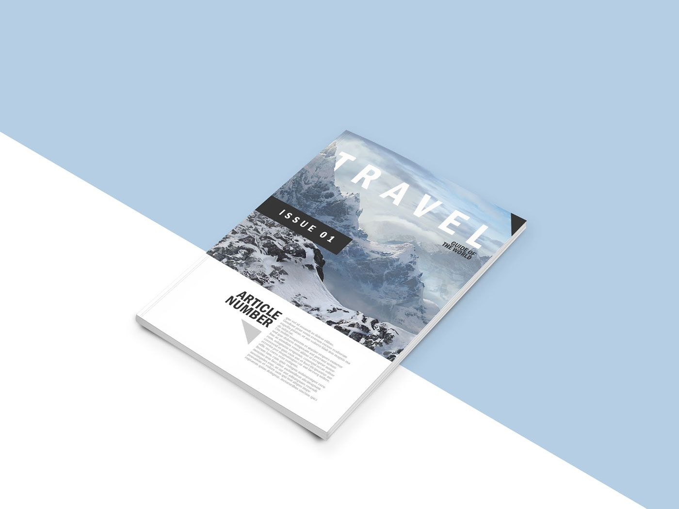 Free PSD mock up template for your magazine concepts
