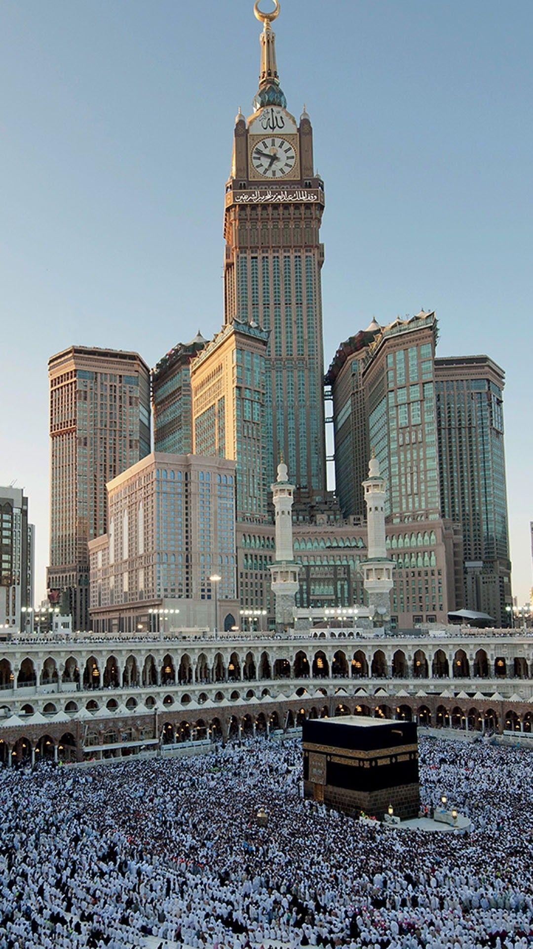1080x1920 Download Makkah Clock Royal Tower 1080 X 1920 Wallpapers 4528727 Islamic Mekkah Tower Mobile9 Mekah Pemandangan Latar Belakang