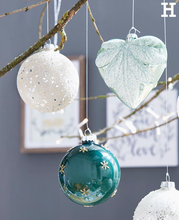 Kugelige Weihnachtsfreude #kugel #weihnachten #idee #deko