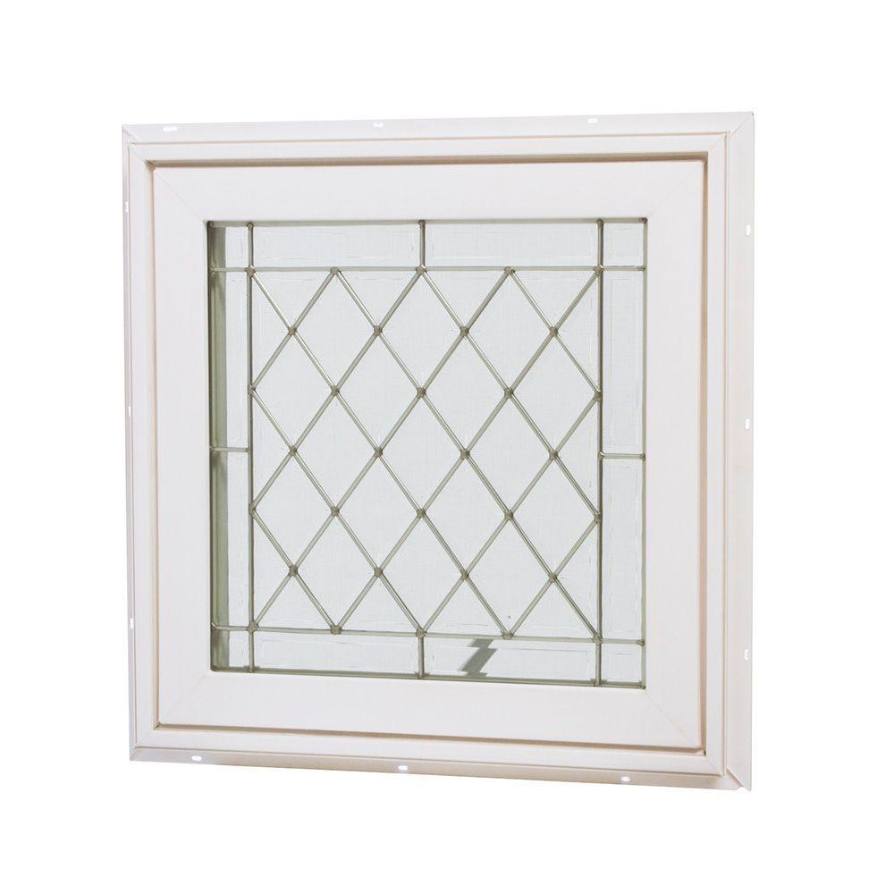 Tafco Windows 24 In X 24 In Awning Vinyl Window White Va2424bdg P The Home Depot Window Vinyl Vinyl Casement Windows Custom Glass