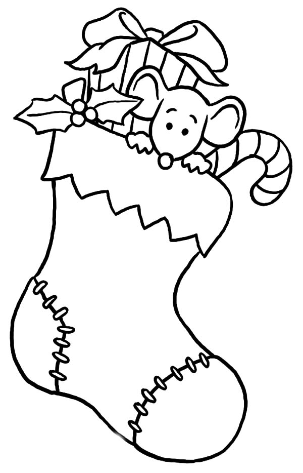 Little Mouse Is Afraid To Come Down From Christmas Stockings Coloring Page Christmas Coloring Pages Printable Christmas Coloring Pages Christmas Coloring Books
