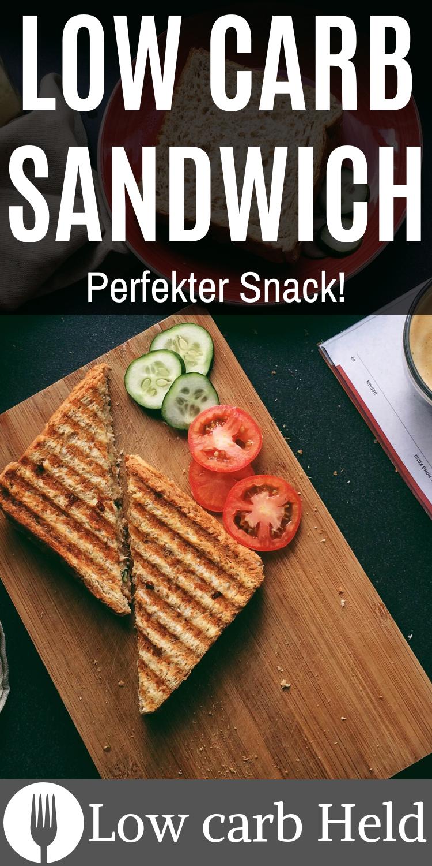 Low carb Sandwich - idealer Snack für Ziwschendurch - Low Carb Held