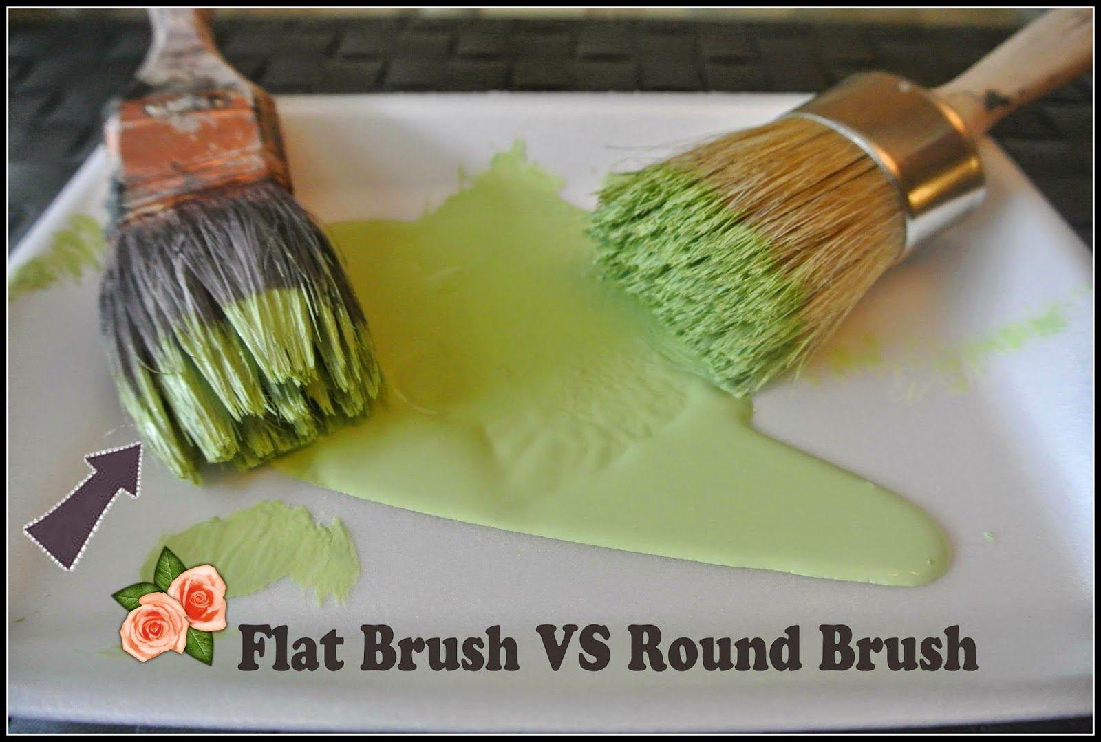 Flat Paint Brush Vs Round Paint Brush If You Want To