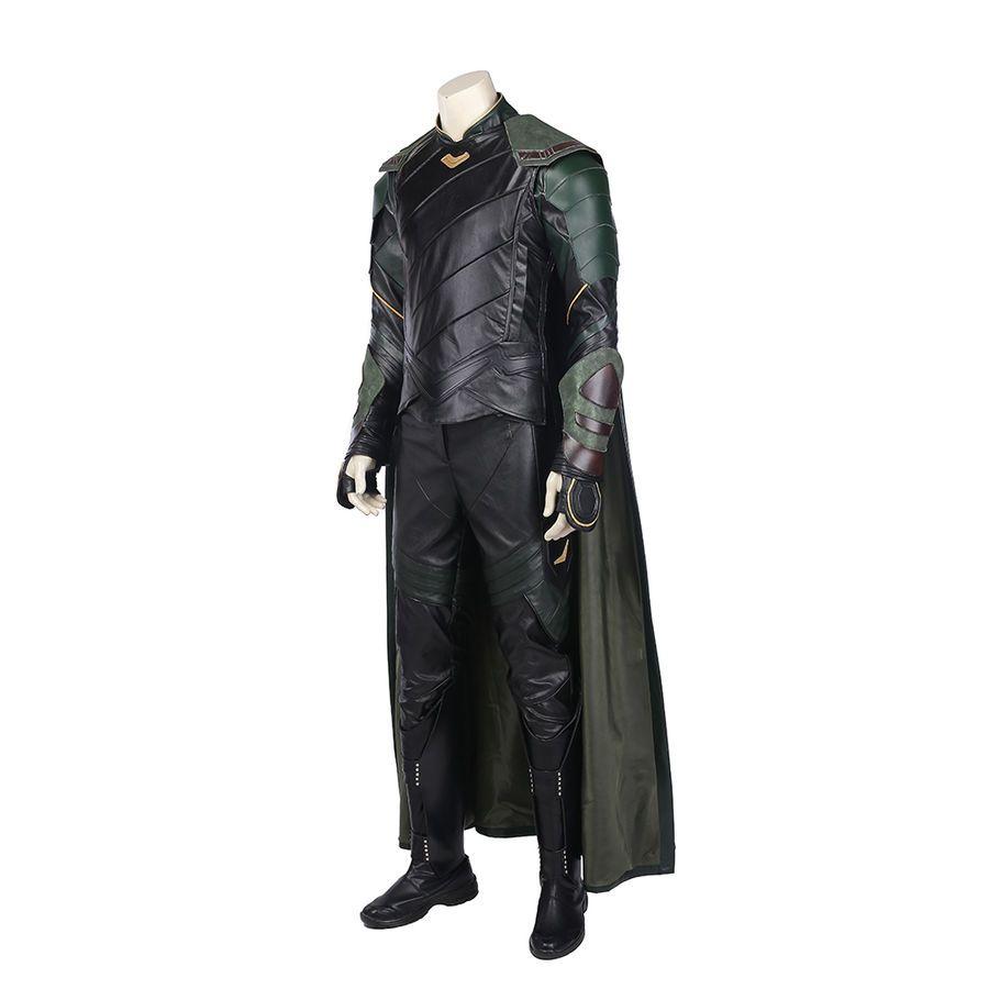 Men 2017 Thor 3 Loki Cosplay Costume Thor Ragnarok Loki Full Suit Custom Made Cool Clothing Shoes Accessories