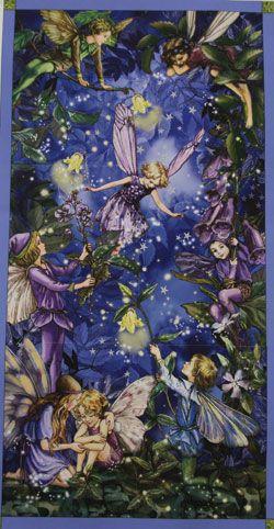 Michael Miller Flower Fairies Night Fairies Panel