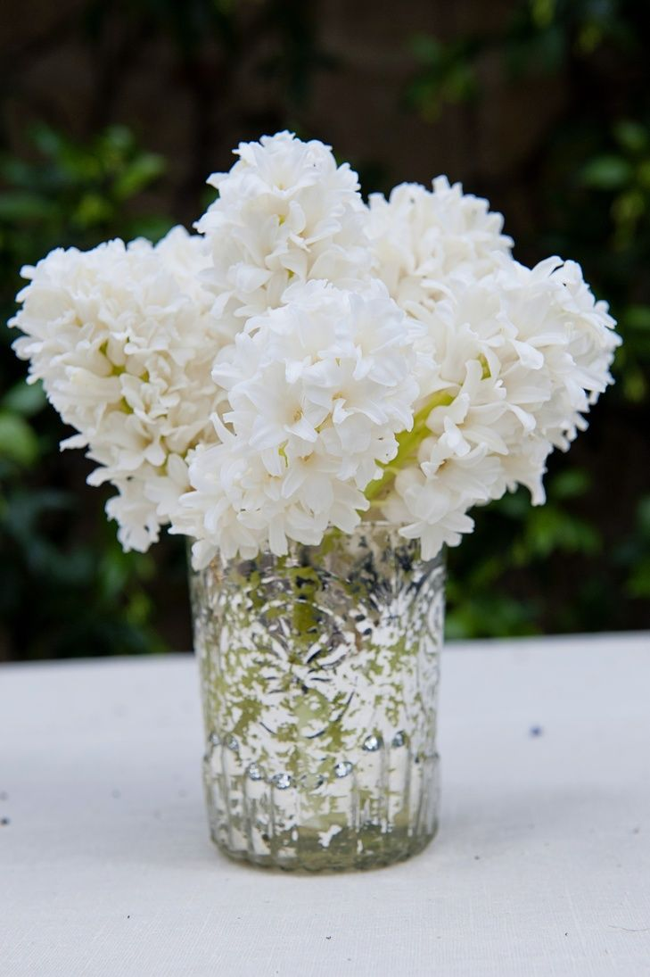 white hyacinth wedding centerpieces - Google Search | Wedding ...